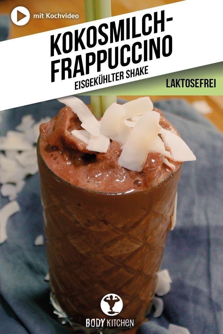 Fitness-Frappuccino mit Kokosmilch. #erfrischend #frappuccino #kokosmilch #vegan #fitness