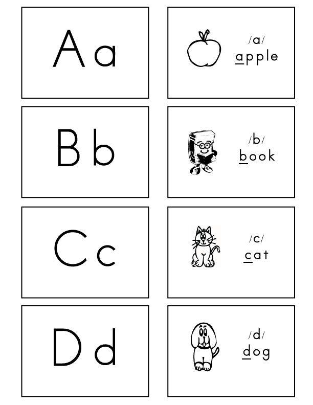 Alphabet Flash Cards Regular Font Free Printable Alphabet Letters Letter Sounds Kindergarten Teaching Letter Sounds Alphabet flashcards for kindergarten pdf