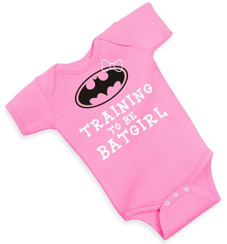 99afa07e7 TRAINING to be BATGIRL inspired one piece creeper cute funny | Baby ...