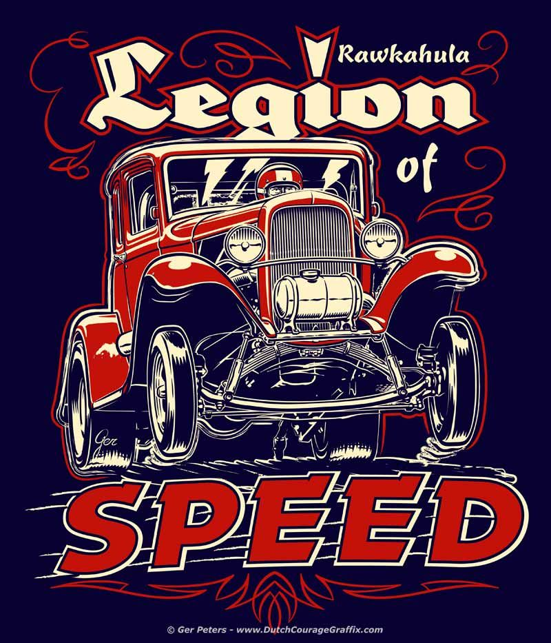 """1932 Ford 5-window """"Gasser"""" Coupe Hot Rod T-shirt Design"""