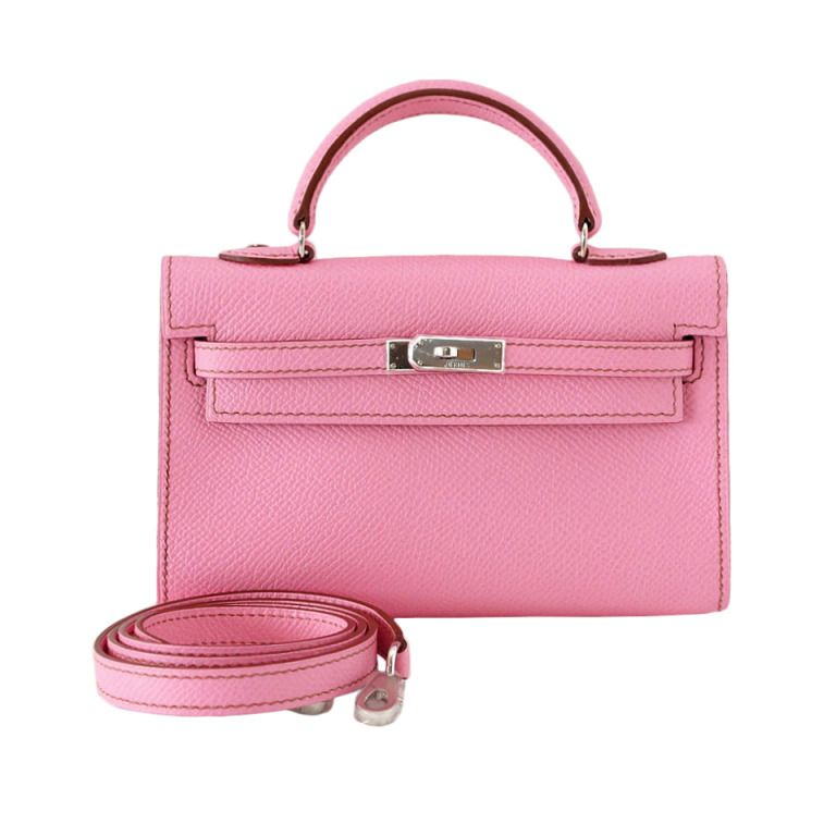 2b7fe8eaabb3 HERMES Kelly bag mini Miniature coveted 5P Pink NWT   box rare
