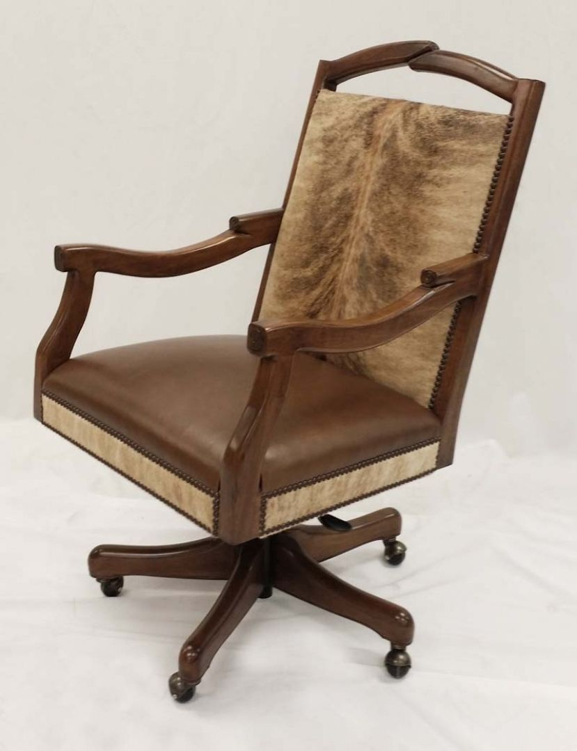 Awesome Cowhide Office Chair Furnishings For Home Furniture Consept From Design Ideas Gallery