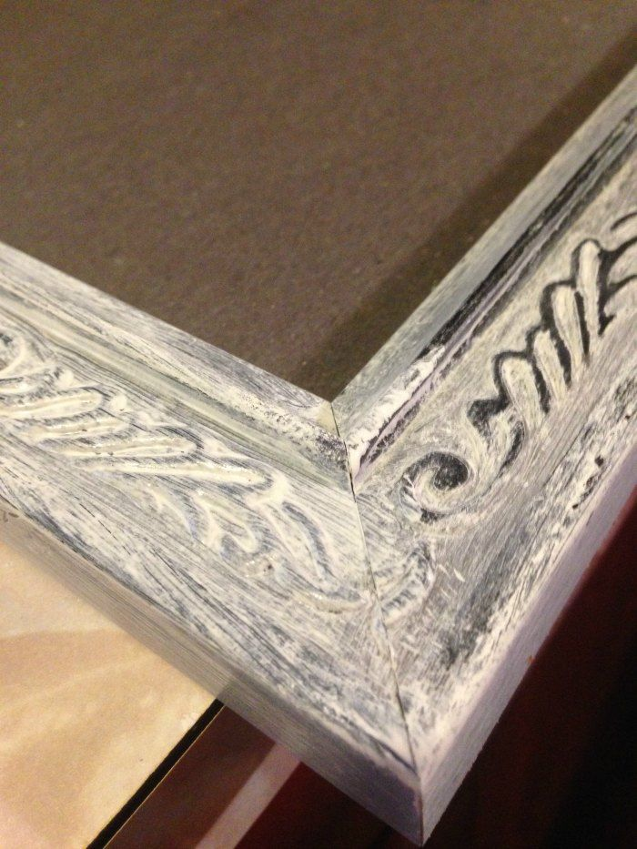 DIY Distressed Frame - How to Make a New Frame Look Old | Distressed ...