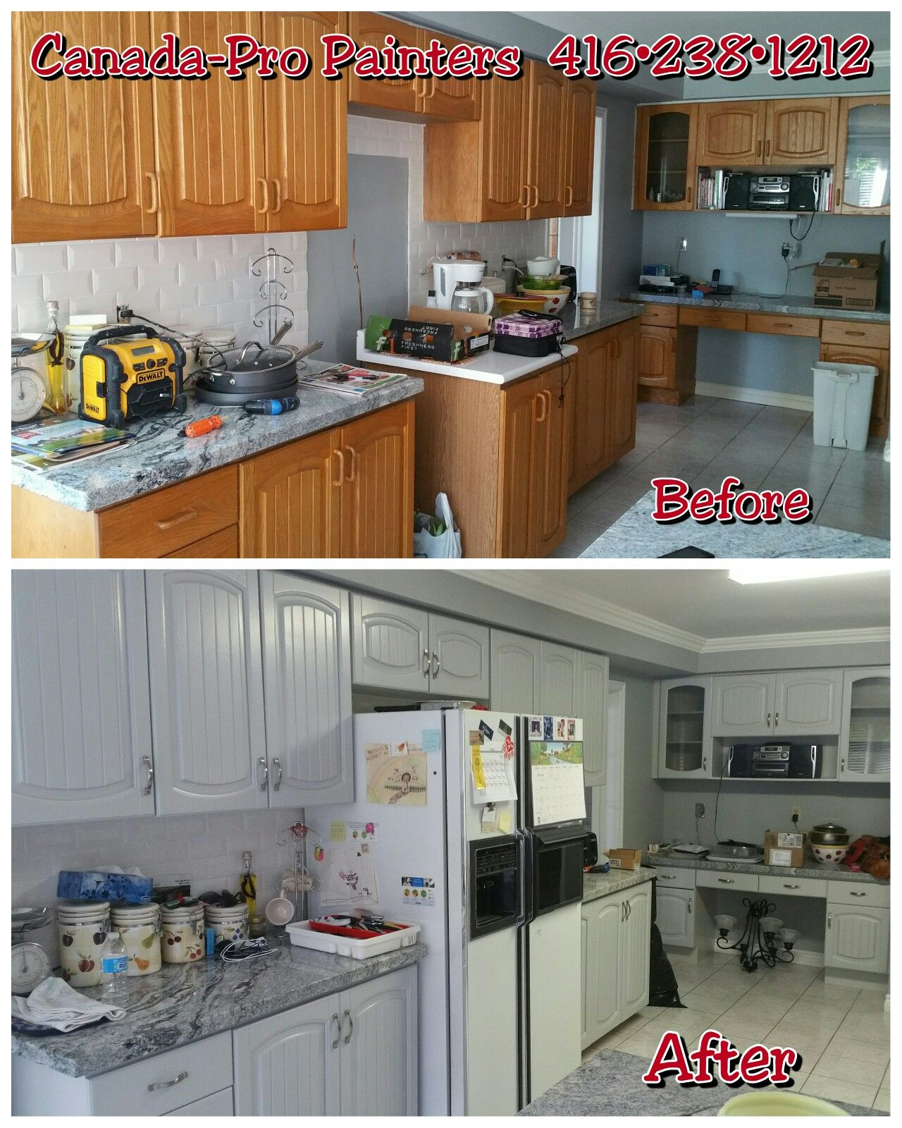 Gray Painted Kitchen Cupboards: Oak Kitchen Cabinets Painted Benjamin Moore HC-170