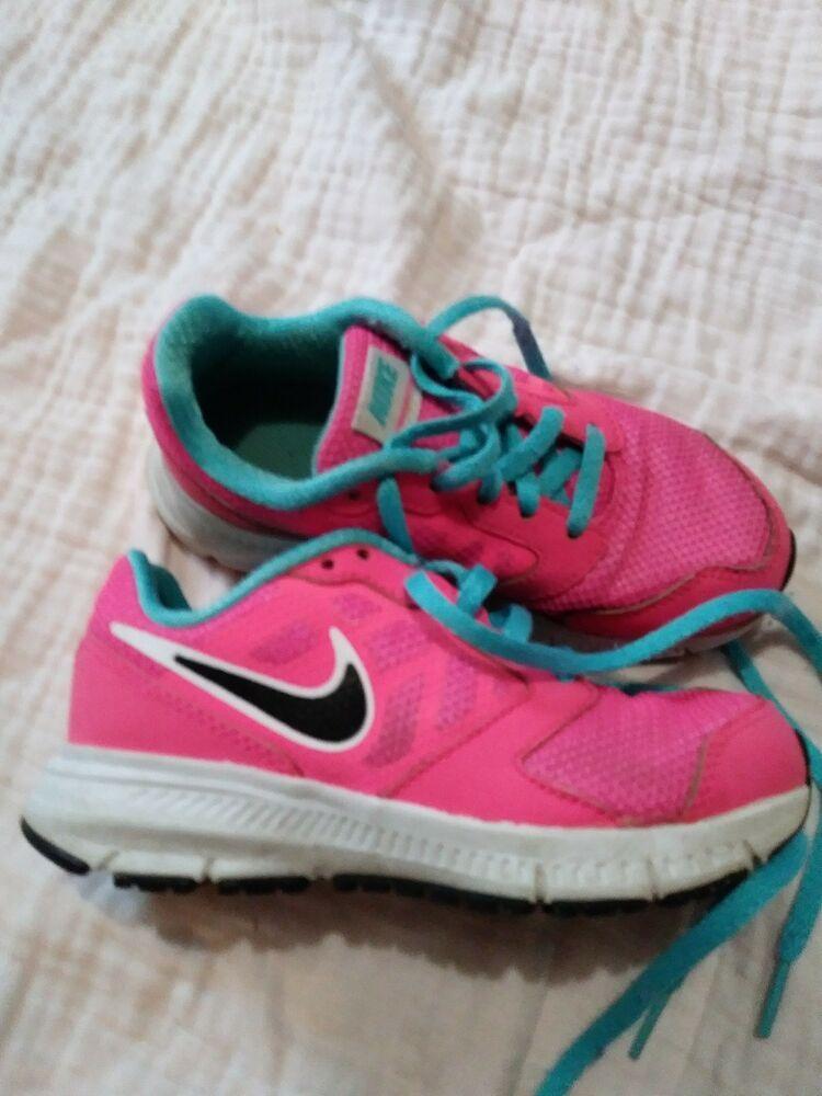 Nike Girls Shoes 11c Downshifter 6 Pink Blue #fashion