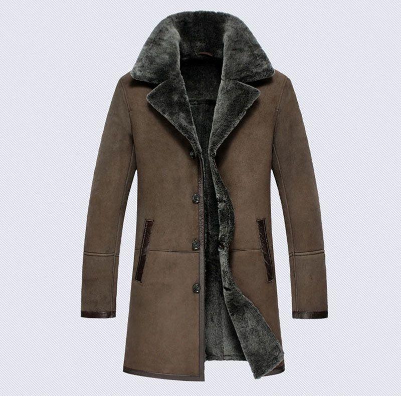 Item#385 Men's Long Shearling Coat Australia Lamb Coat - $1,079.10 ...