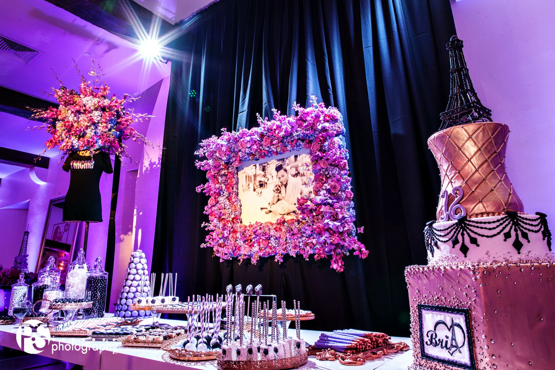 Jennifer j events celebrity sweet 16 ymcmb sweets table floral jennifer j events celebrity sweet 16 ymcmb sweets table floral frame jeuxipadfo Gallery