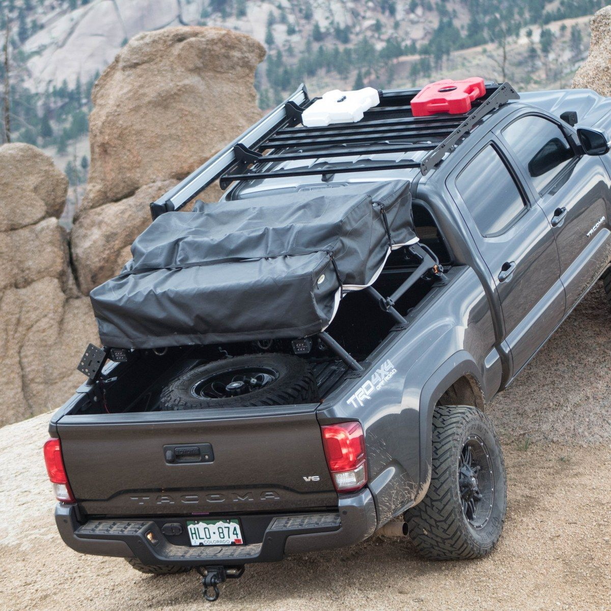 2005 Toyota Tacoma Mid Height Bed Rack In 2020 Toyota Tacoma Toyota Tacoma Roof Rack Tacoma Bed Rack