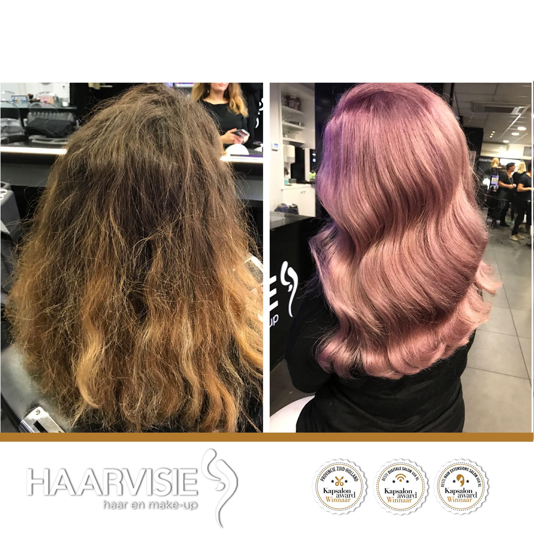 #metamorfose #rosegoldhair #hairgoals #trends #olaplex #haircolor #wella #wellacolor #waves #shine #pastelcolors #creative #hairstyles #hairstyles2017 #haarvisie #haarvisierijswijk