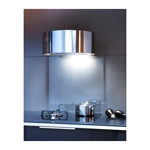 IKEA UDDEN Wall Mounted Extractor Hood Control Panel Placed At Front For  Easy Access And Use