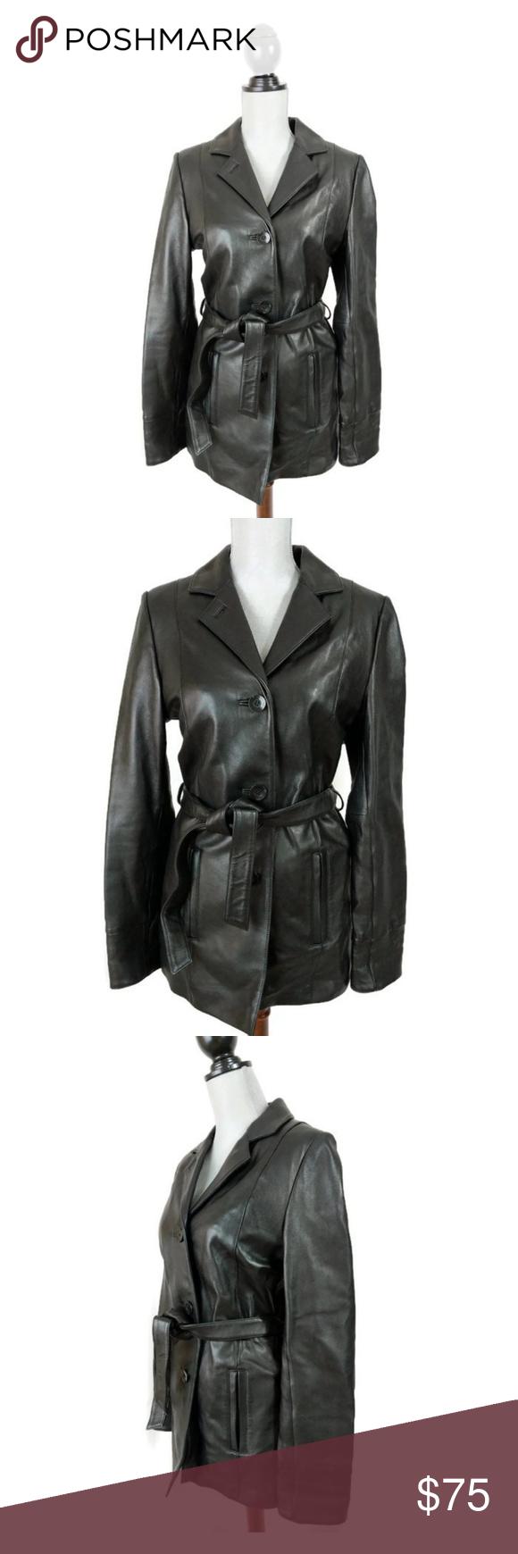 Wilson Black Leather Jacket Soft Belt Insulated Leather