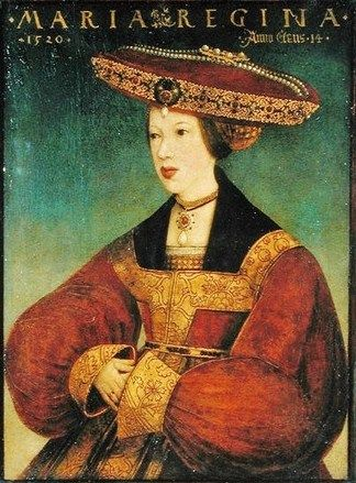 Queen Mary of Hungary and Bohemia by Hans Maler,1520