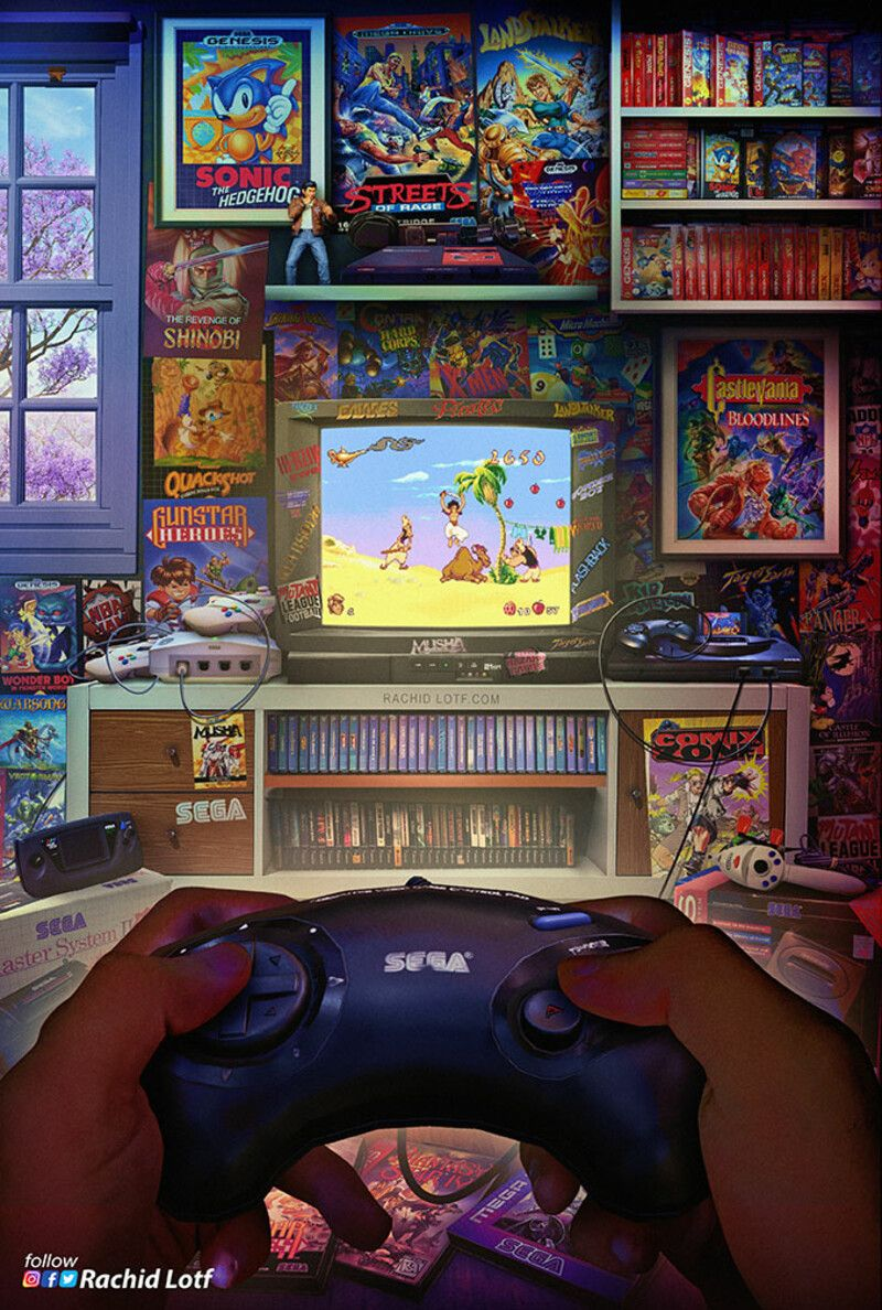 Artstation Sega Genesis Megadrive Aladdin Rachid Lotf Retro Games Wallpaper Retro Gaming Art Retro Video Games