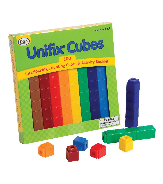 Didax unifix cube set 100 per pack joann unifix cubes