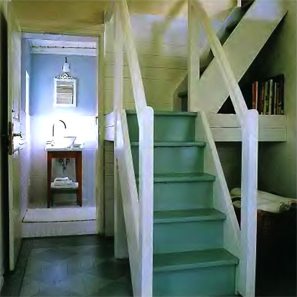 Soft Color Staircase Cottage Design