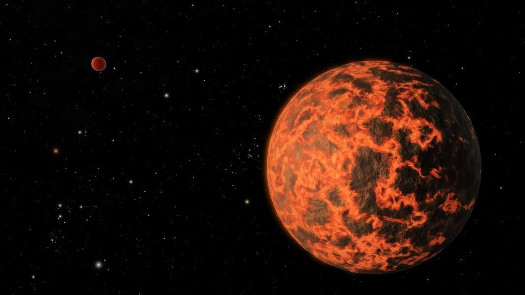 A Surface Covered In Lava -  UCF-1.01 is only 33 light years away from Earth, and is close to the same size. It does have one distinctly non-Earth-like quality, however: its surface is covered in lava.