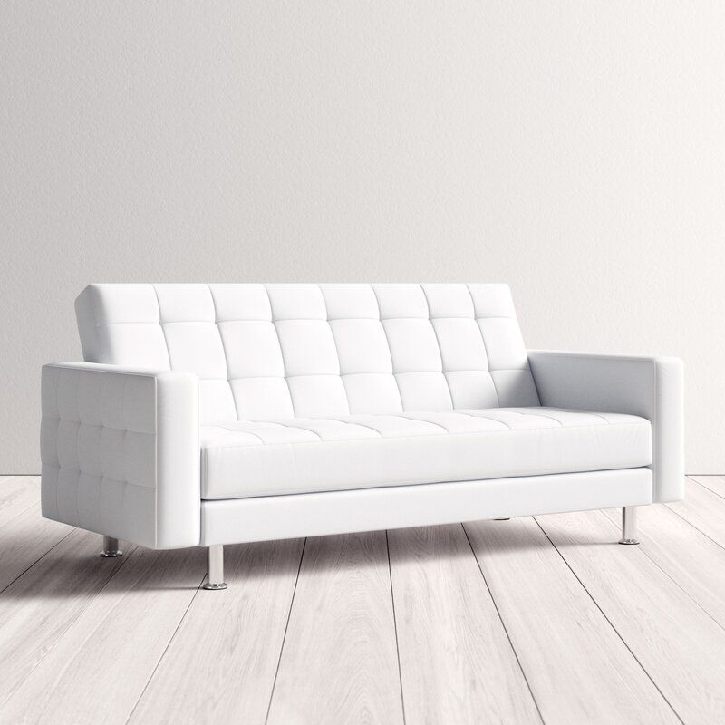 Halsey Convertible Sofa Sofa Bed Guest Room White Leather Couch Convertible Sofa