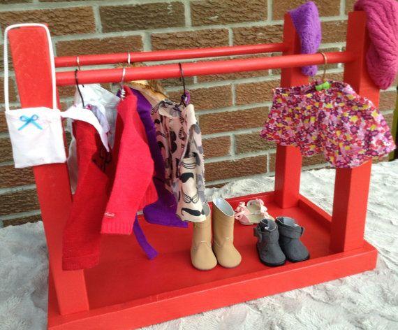 American Girl//Maplelea 18 inch doll Clothes Rack