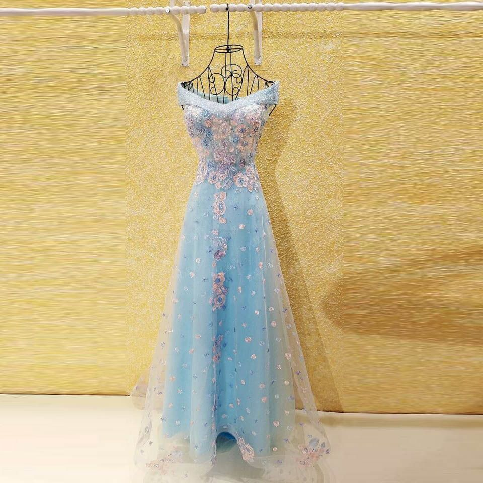 Candy color a line evening dresses evening gowns long vestidos longo