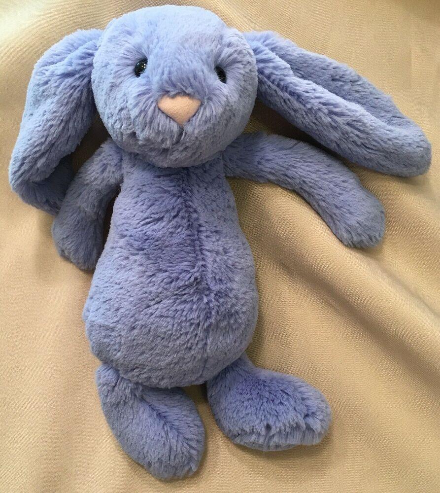 Rare Jellycat Bashful Bunny Rabbit Bluebell Lilac Blue Medium 12 Soft Plush Toy Ebay Jellycat Soft Plush Plush