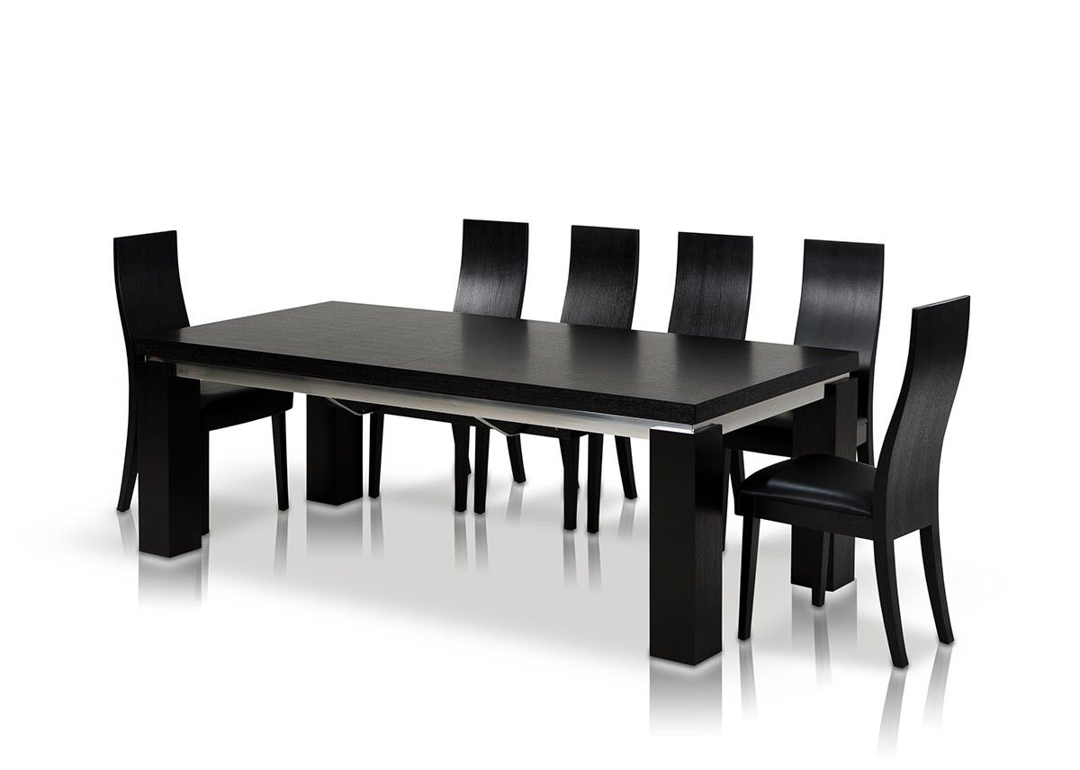 Modern black and white dining room - Maxi Modern Dark Oak Dining Table