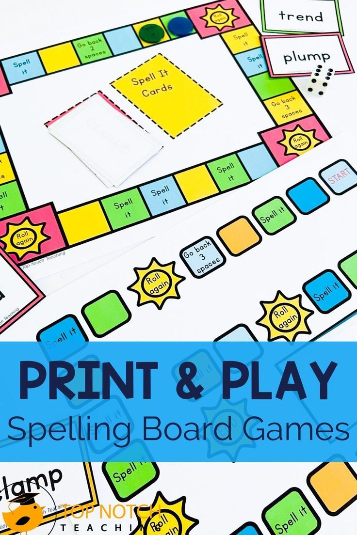 Spelling Game for CVC and CVCC Spelling Words Word Work