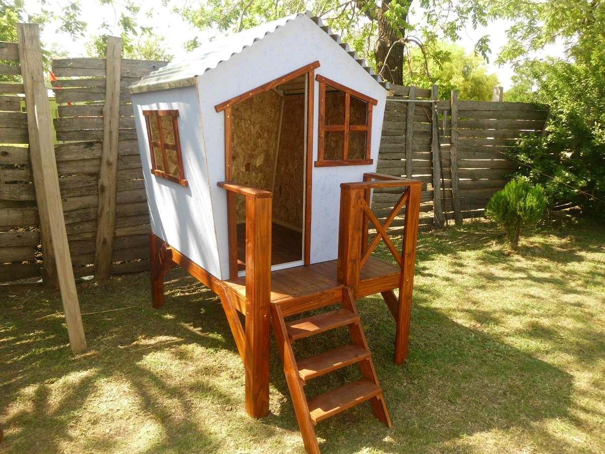 2 casita de madera para ni os para paysand en mercadolibre carpinter a Disenos de casitas de madera para ninos