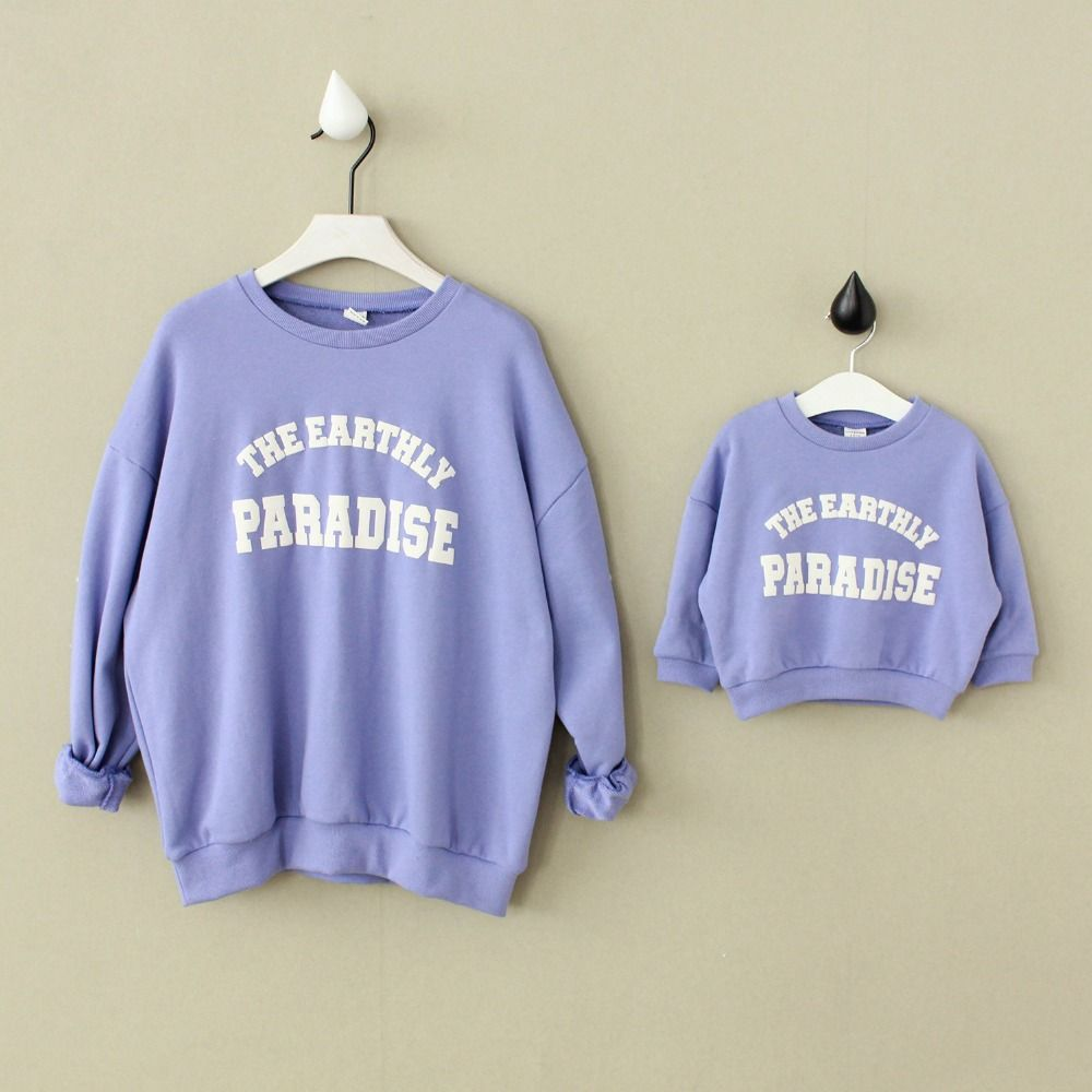 Family Clothes Spring Autumn Long Sleeve Letters Pattern Mom And