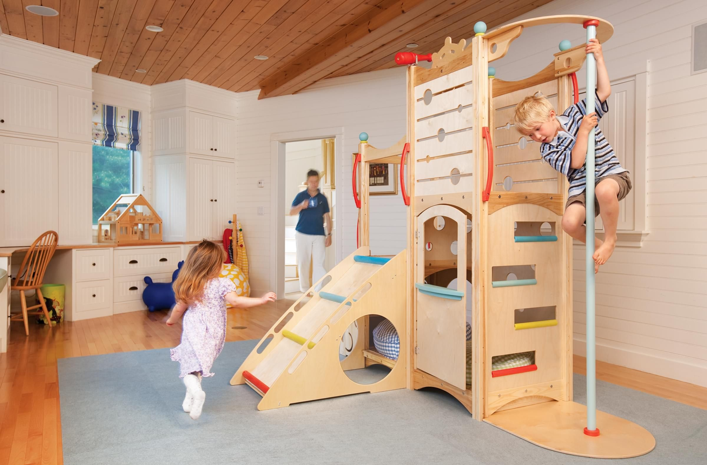 Indoor Playset 398 Is From Our Popular Line Of Indoor Playsets, Which  Features Slides,