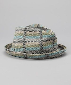 Look what I found on  zulily! Kangol Green   Blue Plaid Fedora by ... 9c6dfa18b33e