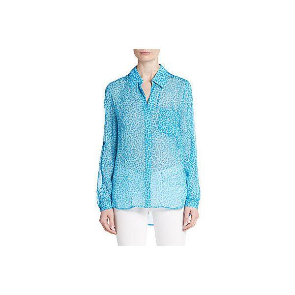 25009a7dd99 Diane von Furstenberg Lorelei Two Silk-Chiffon Blouse ( 100) ❤ liked on  Polyvore