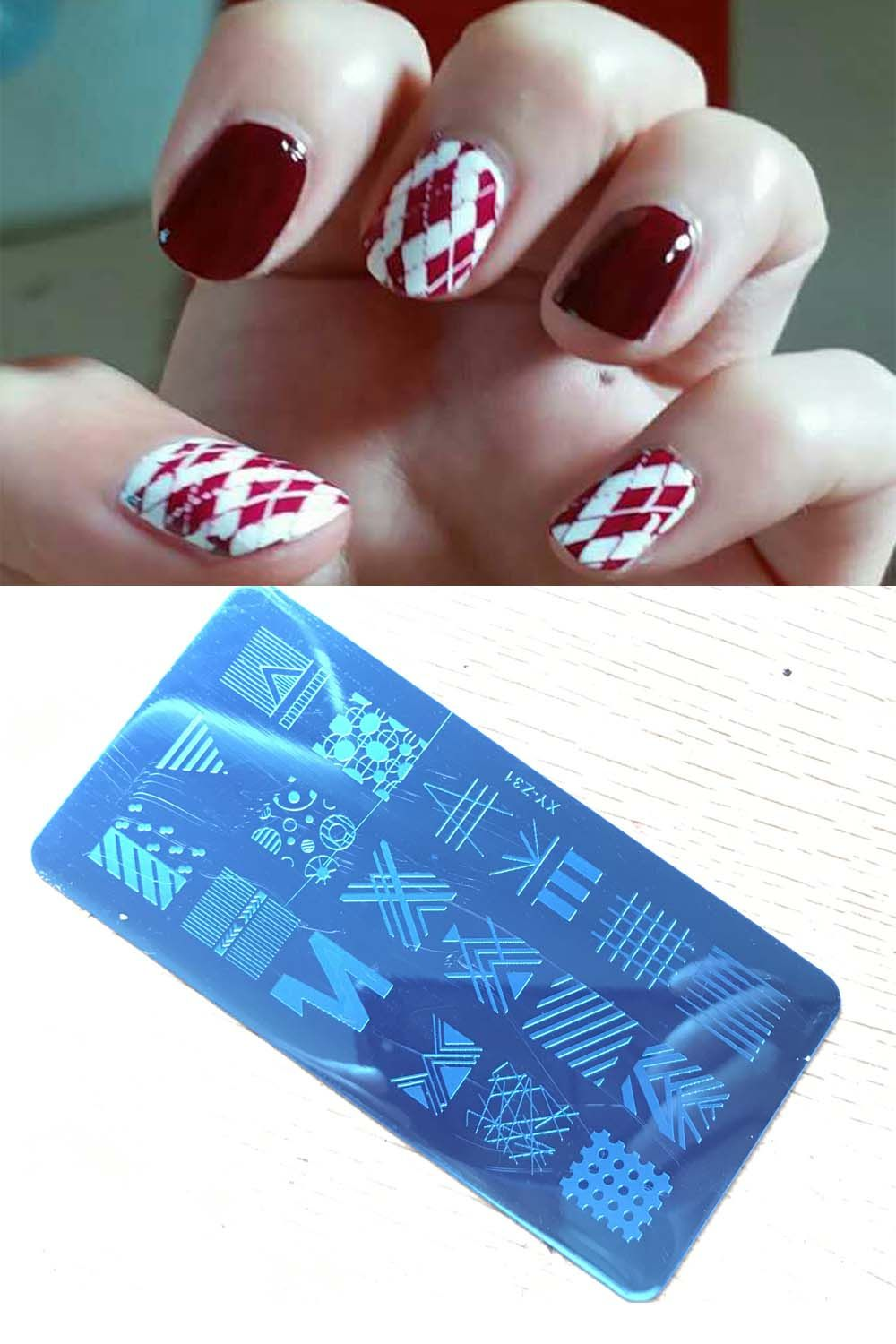 New 20 Style 612 Cm Beauty Simple Geometry Stamping Nail Art Xy Z