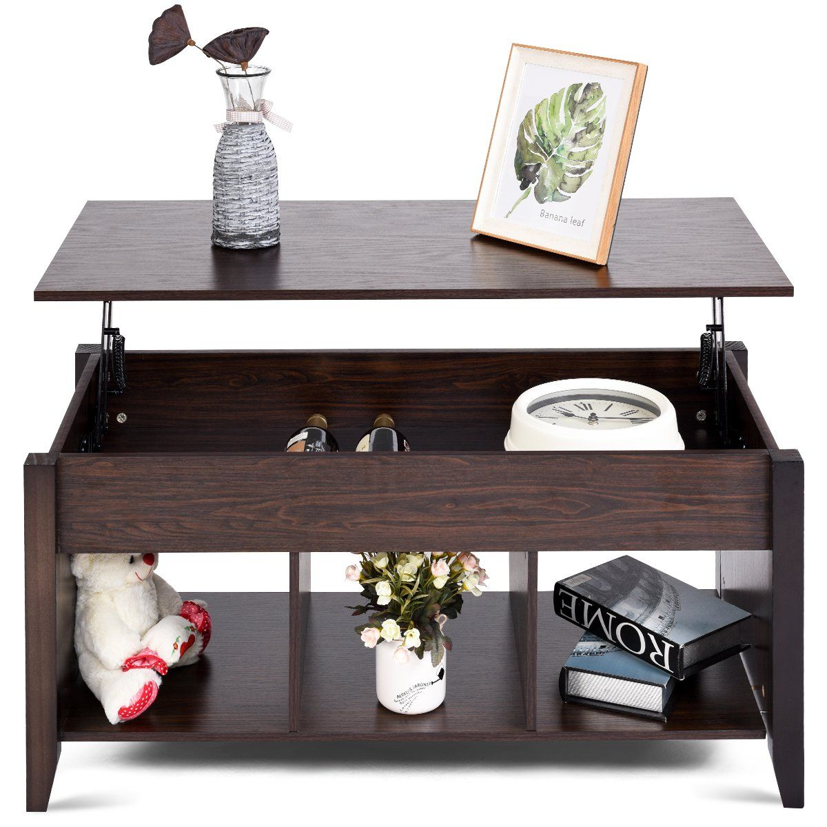 Tangkula Coffee Table Home Lift Top With Under Storage Shelf Living Room Furniture Tea Table You Wood Furniture Living Room Living Room Wood Modern Shelving [ 1200 x 1200 Pixel ]