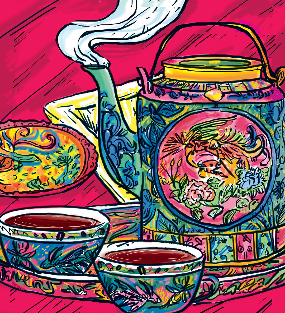 娘 惹 A Taste of Peranakan on Behance Asian art, Art, Painting