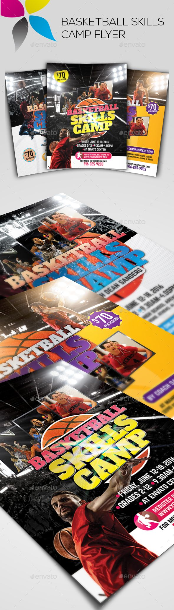 Basketball Skills Camp Flyer  Basketball Skills Flyer Template