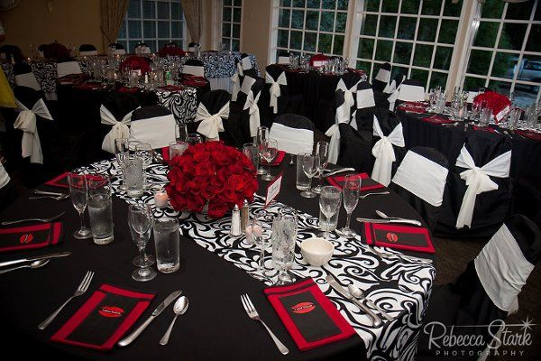 Red Black And Silver Wedding The Bride Groom White Ideas
