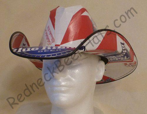 2ecbf0e30818b Pabst Blue Ribbon Style Beer Box Cowboy Hat