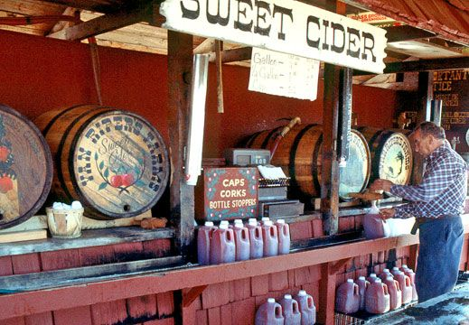 Fresh cider from Tices Farm , Woodcliff Lakes NJ! Now it\u0027s a