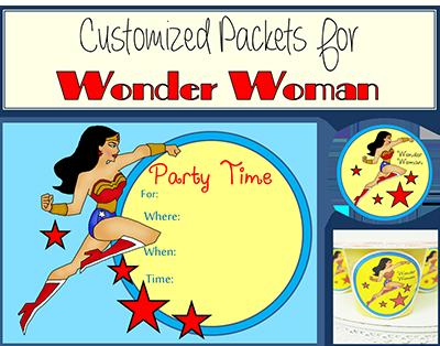 wonder woman party ideas wonder woman printable party favors