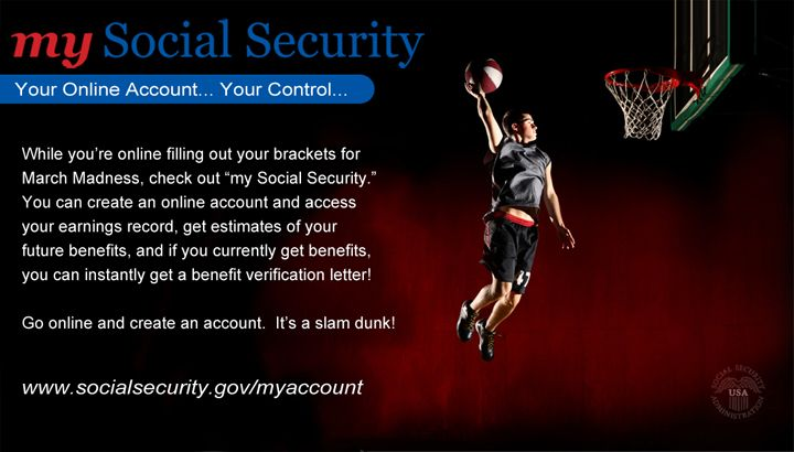"""With a """"my Social Security"""" account you can access your"""