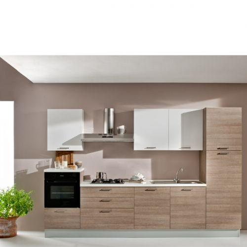 Scacco cucina completa dx anta laminato rovere grigio - Anta cucina laminato ...