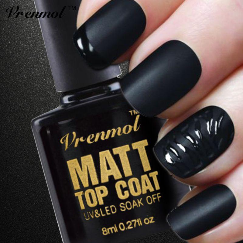 Vrenmol 1 unids Limpieza Mate Mate Top Coat UV Gel Esmalte de Uñas ...
