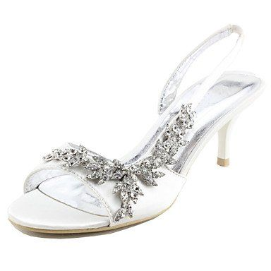 bridal shoes, satin mid heel strappy sandals, size 37 european ...