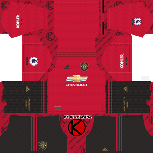 Update Manchester United 2019 2020 Kit Dream League Soccer Kits In 2020 Manchester United Home Kit Soccer Kits Manchester United Third Kit