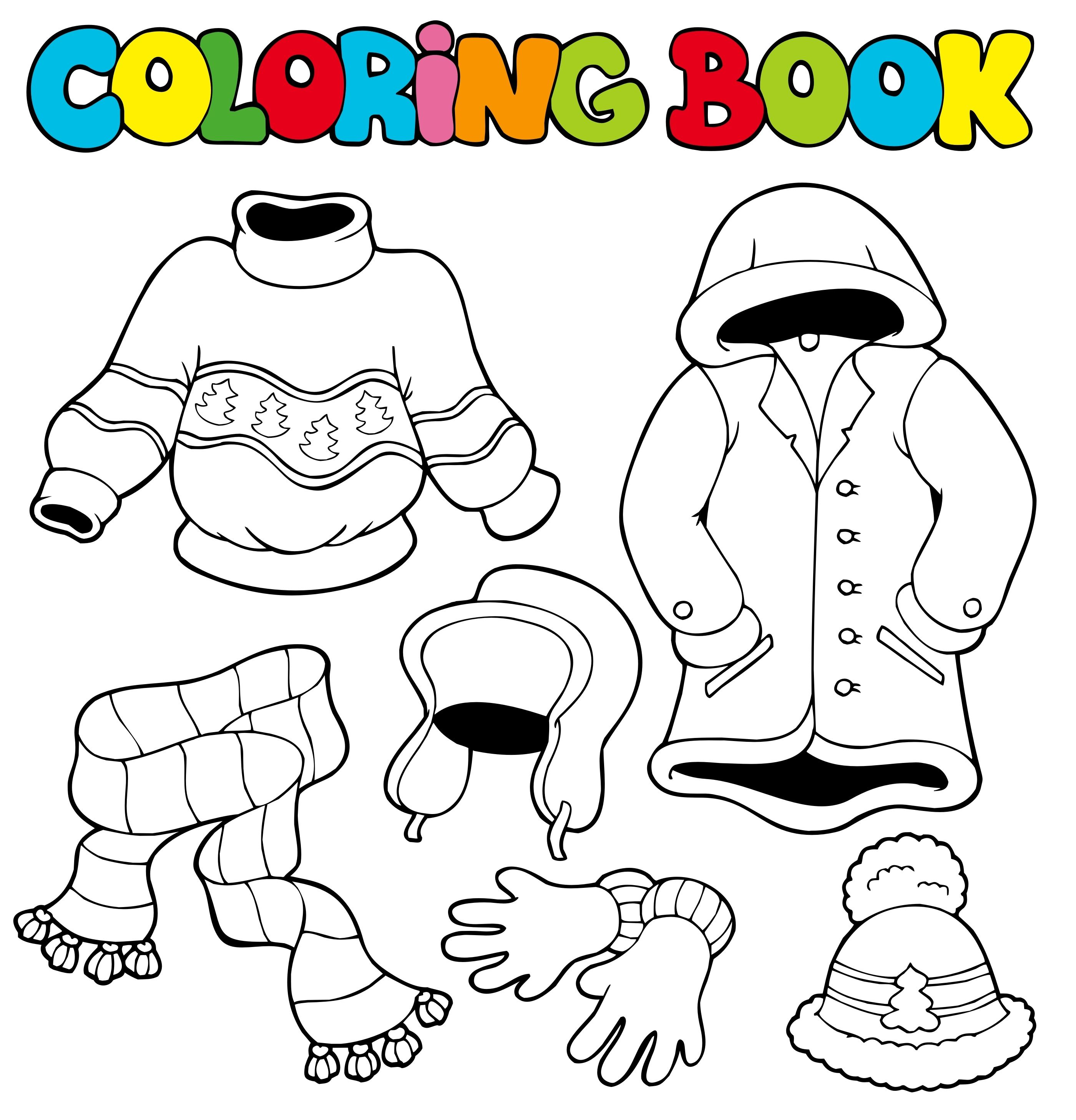 Summer clothes coloring pages - 4 Seasons Coloring Pages 187 Free Printable Coloring Pages