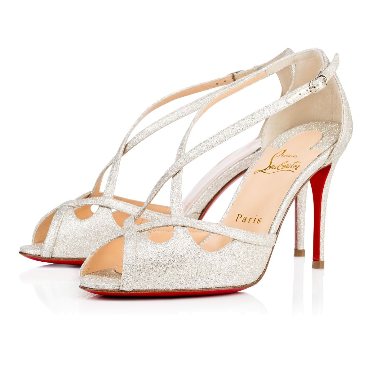 305038a0790c CHRISTIAN LOUBOUTIN Madalena 85 Glitter Mini Glitter 85 Ivory Glitter - Women  Shoes - Christian Louboutin.  christianlouboutin  shoes
