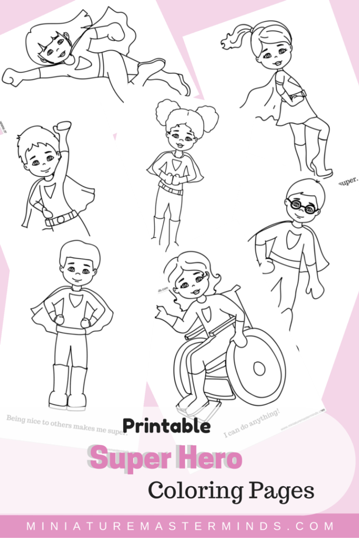 Free Printable Kid Super Hero Coloring