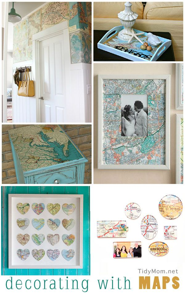 Decorating with Maps at TidyMom.net