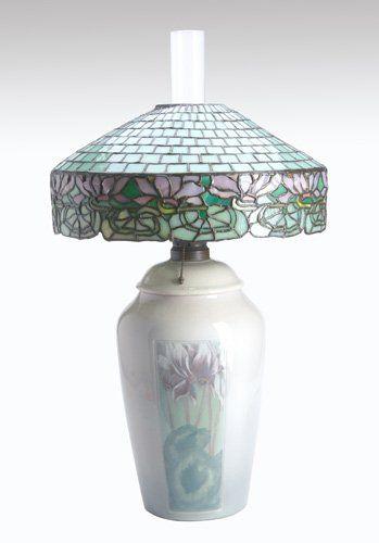 John Morgan & Sons Table Lamp on Rookwood Base