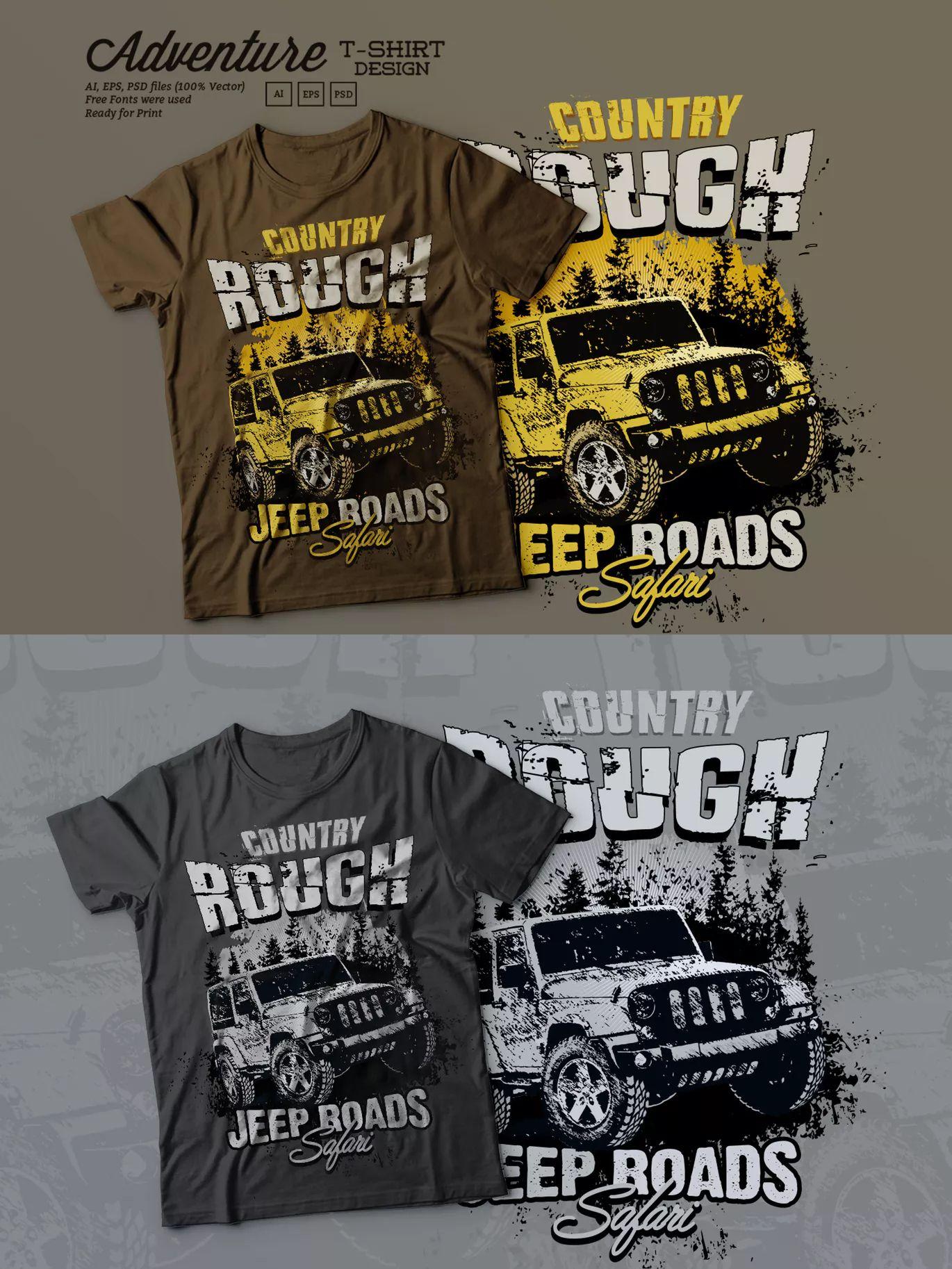 Off Road Adventure T Shirt Design Template Ai Eps Psd Unlimiteds